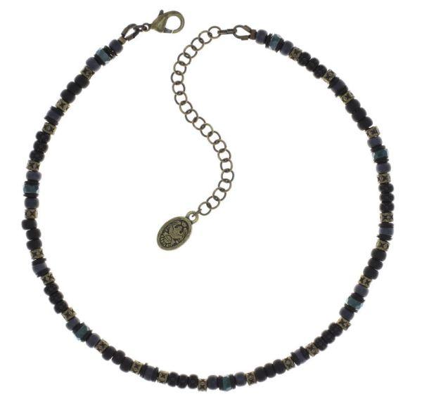 Konplott Urban Scuba Halskette in schwarz antique 5450543868868