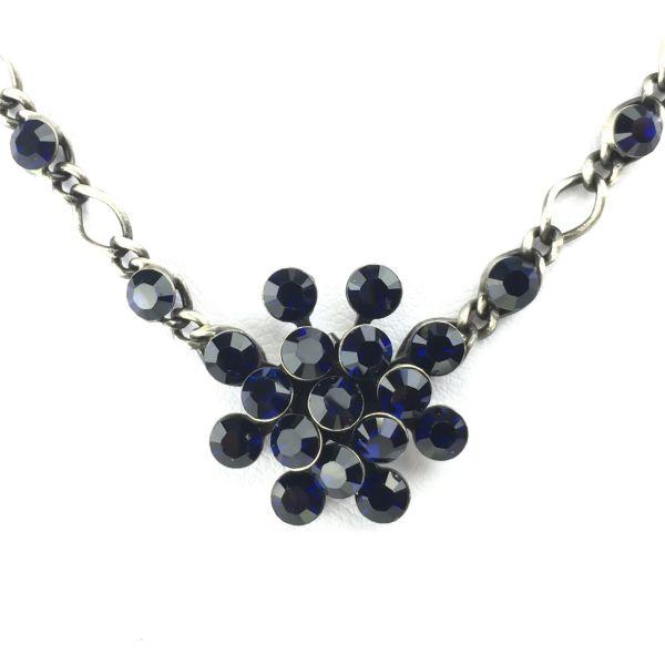 Magic Fireball Halskette steinbesetzt mit Anhänger in dark indigo, dunnkelblau