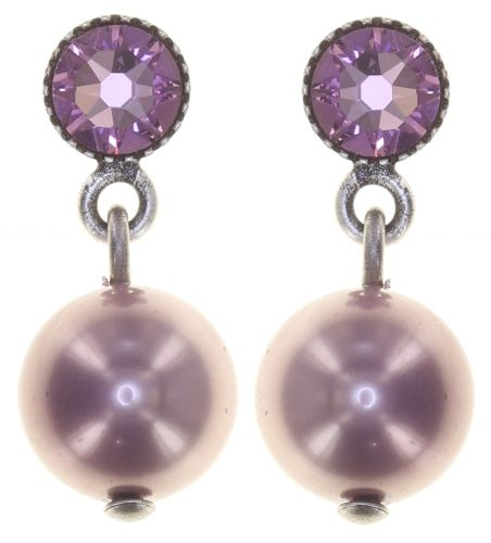 Konplott Pearl Shadow Ohrstecker in pink light amethyst 5450543810959
