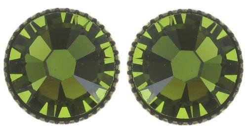 Konplott Black Jack Ohrstecker groß in oliv grün 5450527723053