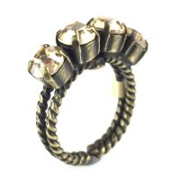 Konplott Colour Snake Ring in Crystal Golden Shadow 5450527610070