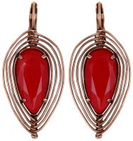Konplott Amazonia Ohrhänger in rot, Größe S 5450543753317