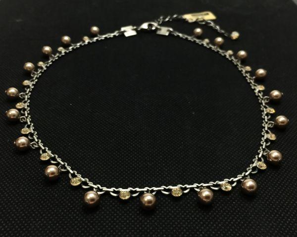 Konplott Pearl Shadow crystal golden shadow Halskette steinbesetzt 5450527598675