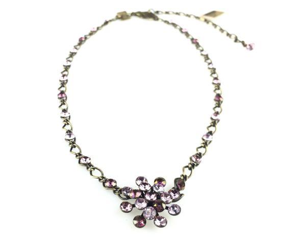 Konplott Magic Fireball Halskette steinbesetzt mit Anhänger in lila 5450543218328