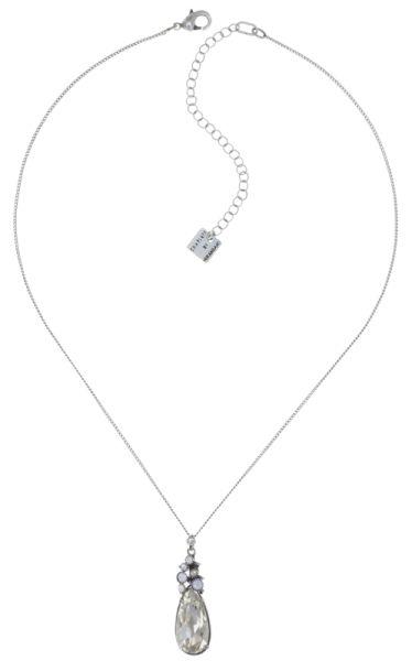 Konplott Alien Caviar Crystal Clear Halskette mit Anhänger weiß 5450543895420