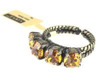 Vorschau: Konplott Colour Snake Ring in Topaz, gelb/braun 5450527122191