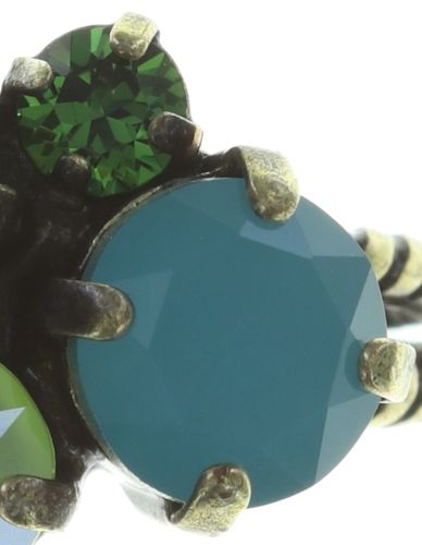 Konplott Ballroom Classic Glam Ring in blau/grün 5450543726724