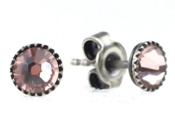 Konplott Black Jack Ohrstecker klassisch klein in vintage rose 5450543212821
