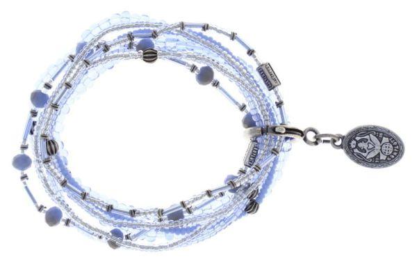 Konplott Petit Glamour d'Afrique Armband in Blau/Grau 5450543780016