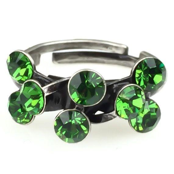 Konplott Magic Fireball 8 Stein Ring in Farn grün 5450527778312