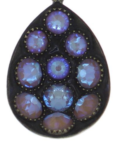 Konplott Tears of Joy Halskette mit Anhänger in baun crystal cappucci Größe M 5450543763439