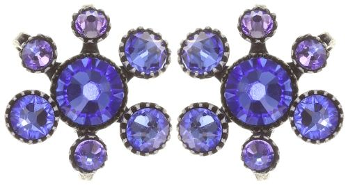 Konplott Alien Caviar Ohrring Caviar Blue *Neu: Fassung aus Titan 5450543895635