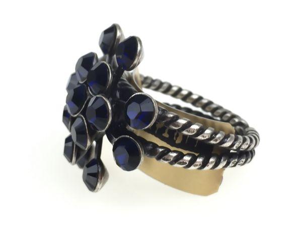 Konplott Magic Fireball 16 Stein Ring in dark indigo, dunkelblau 5450527611800
