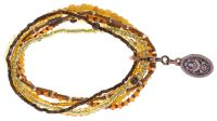 Konplott Petit Glamour  d'Afrique Armband in gelb 5450543786308