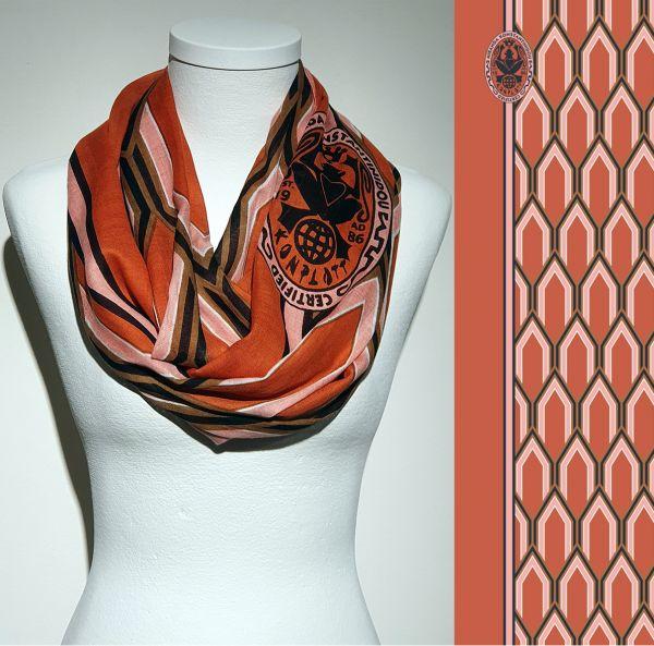 Konplott Schal Geometrisch 20 in orange 5450543807164