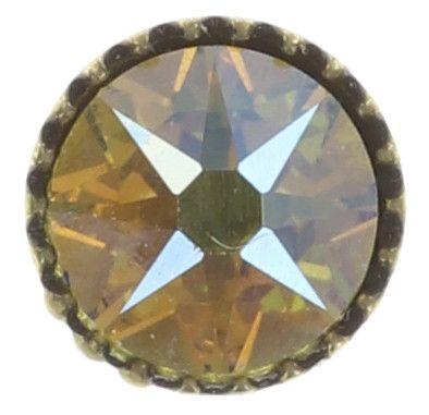 Konplott Black Jack Ohrstecker klassisch klein in gelb citrine shimmer 5450543649511