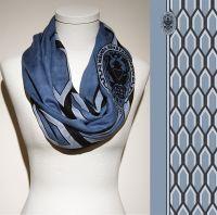 Vorschau: Konplott Schal Geometrisch 5 Blau + Dunkeles Muster 5450543806853