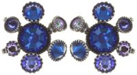 Konplott Alien Caviar Ohrring Caviar Blue *Neu: Fassung aus Titan 5450543895642
