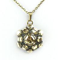 Konplott Bended Lights Halskette mit Anhänger in hellbraun/beige 5450527729703