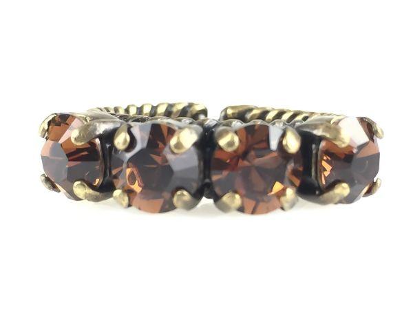 Konplott Colour Snake Ring in Smoked Topaz, braun 5450527256957