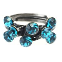 Konplott Magic Fireball 8 Stein Ring in indicolite, blau 5450527640244