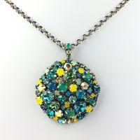 Vorschau: Konplott Ballroom Halskette mit Anhänger grün, blau, gelb 5450543485546