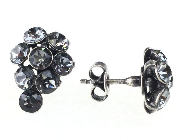 Konplott Magic Fireball Ohrstecker klassisch Traube in crystal silver night 5450527767132