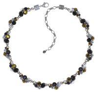 Konplott Petit Glamour Halskette Meteor in schwarz/braun 5450543813905
