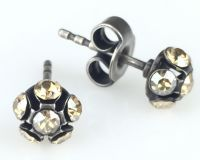 Vorschau: Konplott Disco Balls crystal golden shadow Ohrstecker klassisch 5450527640725