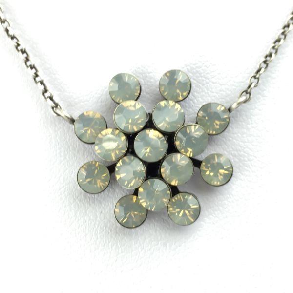 Magic Fireball Halskette mit Anhänger in light grey opal