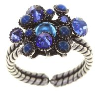 Konplott Alien Caviar Ring Blue Water in blau 5450543885094