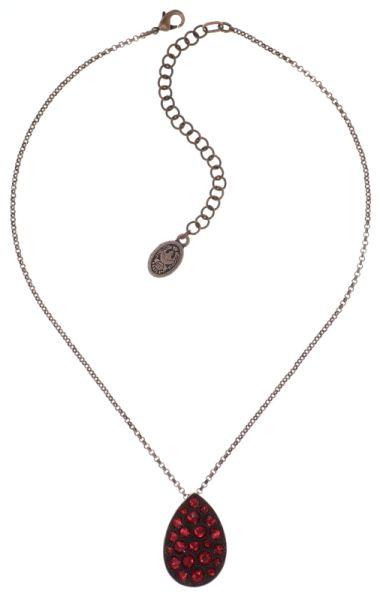 Konplott Tears of Joy Halskette mit Anhänger in coralline scarlet rot Größe L 5450543767505