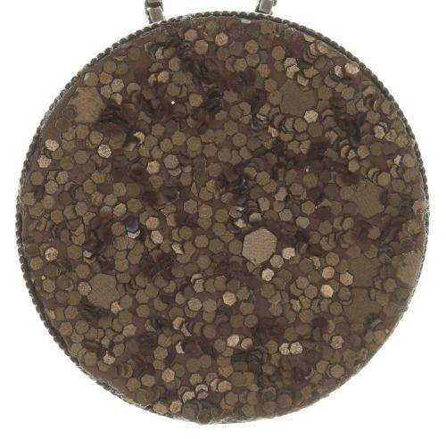 Konplott Studio 54 Halskette mit Anhänger groß in braun 5450543683522
