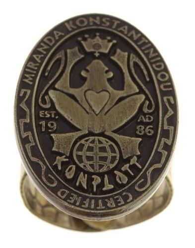 Konplott Konplott Logo Ring antique Messing 5450543860923