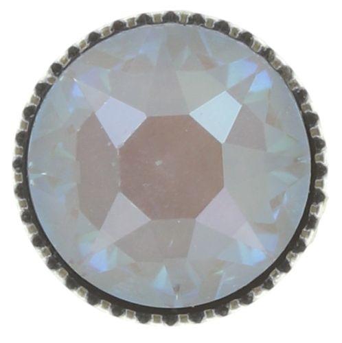 Konplott Black Jack Ohrstecker groß in weiß crystal grau 5450543768847