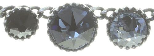 Konplott Water Cascade steinbesetzte Halskette in schwarz 5450543772882