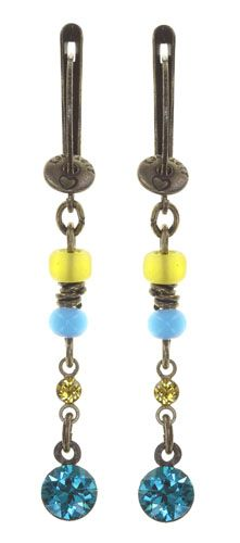 Konplott Petit Glamour d'Afrique Ohrhänger in blau/gelb 5450543913728