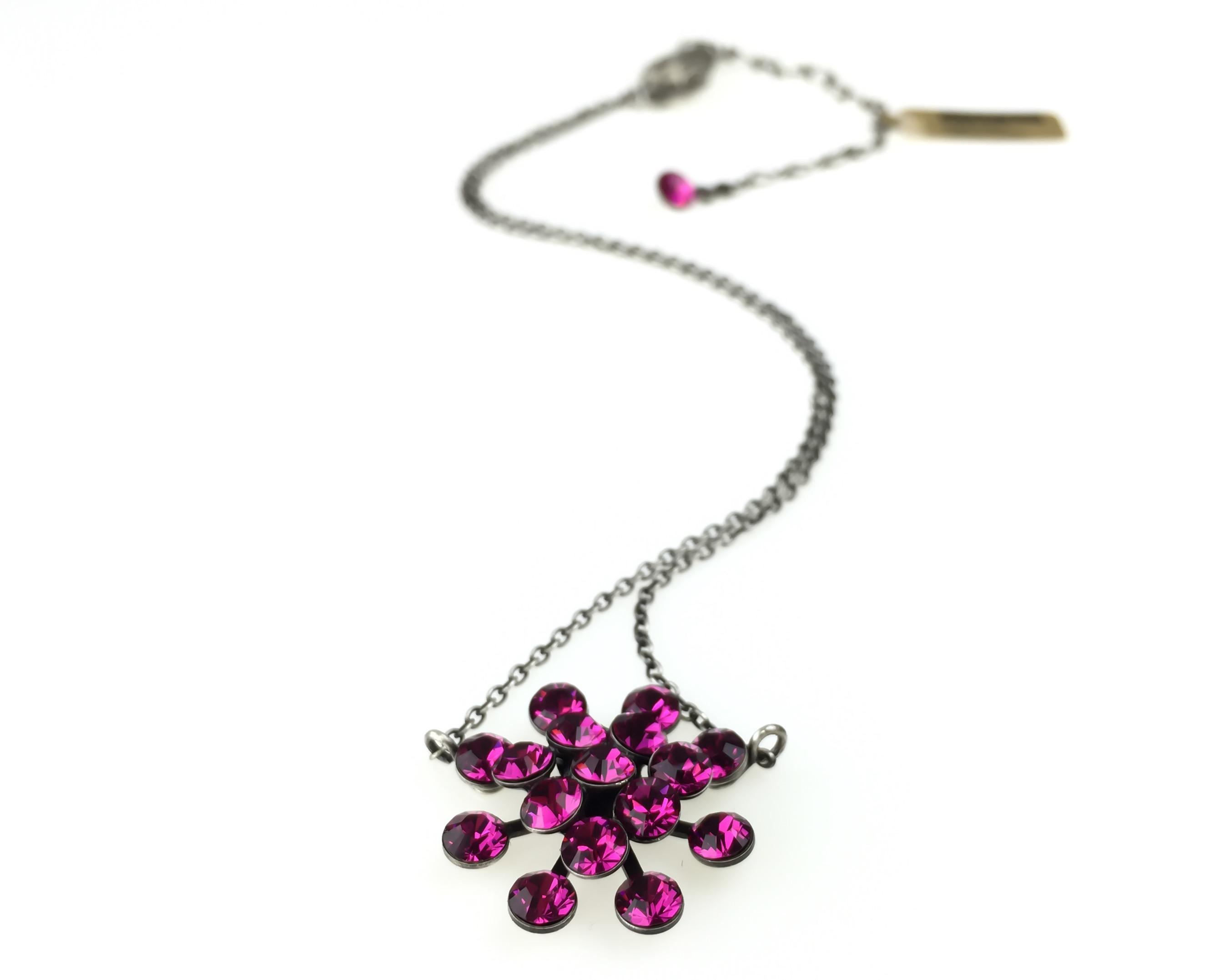 Konplott Halskette hängend Collier Magic Fireball pink Indisch pink