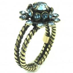 "Konplott ""Pool-Side Flower"" blauer Ring"
