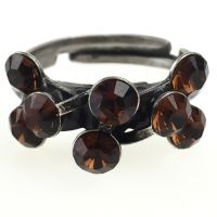 Konplott Magic Fireball 8 Stein Ring in smoked topaz, braun 5450527640169
