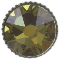 Vorschau: Konplott Black Jack Ohrstecker in grün - crystal tabac 5450527667807