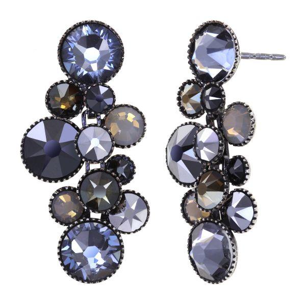 Konplott Water Cascade Ohrhänger in Silver Carbon schwarz 5450543907628