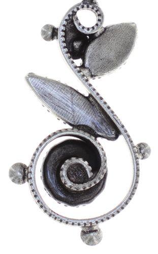 Konplott Twisted Flower Halskette in braun 5450543782256