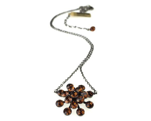 Konplott Magic Fireball Halskette mit Anhänger in smoked topaz, braun 5450527640121