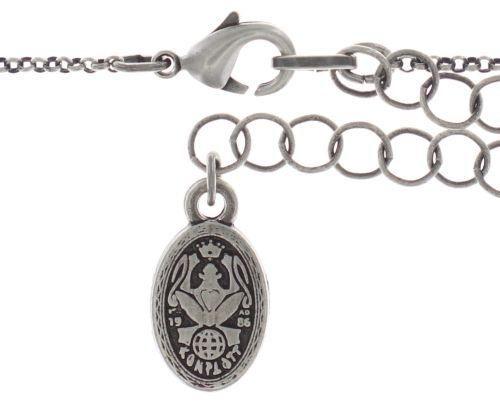 Konplott Cages Halskette mit Anhänger in pastel multi Silberfarben 5450543741123