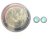 Vorschau: Konplott Black Jack Ohrstecker klassisch rund klein in green pacific opal 5450527797146
