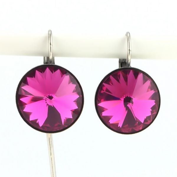 Konplott Rivoli fuchsia Ohrhänger mit Klappverschluss, pink 5450527612920