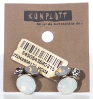 Konplott Disco Star Ohrstecker Stone White 5450543880815