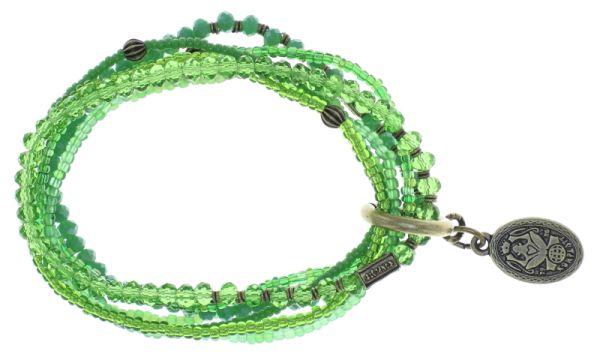 Konplott Petit Glamour d'Afrique Armband in grün 5450543786216