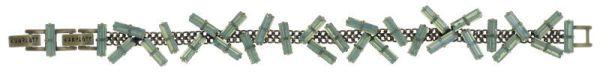Konplott Jumping Baguette Armband Opal Green 5450543861630